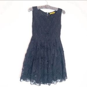 Alice + Olivia lace sequin fit and flare dress